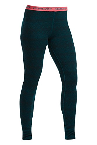 Fair Isle Legging (Icebreaker Women's Vertex Icon Fair Isle Leggings, Night/Grapefruit, Medium)