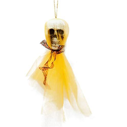Livoty Halloween Hanging Decor Pirates Corpse Skull Haunted House Bar Party Home Garden Decor Prop (Yellow) ()