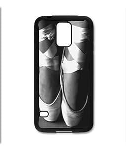 Samsung Galaxy S5 SV Black Rubber Silicone Case - Ballet Slippers Toe Pointe Ballerina Dancing