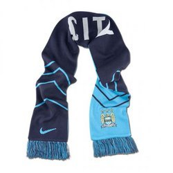 Nike Manchester City MCFC Supporters Scarf Field Blue/Obsidian/White 619340-488