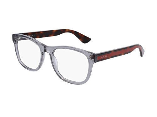 768e8cc3f4e0 Gucci GG 0004O 004 Transparent Light Grey Plastic Square Eyeglasses 53mm