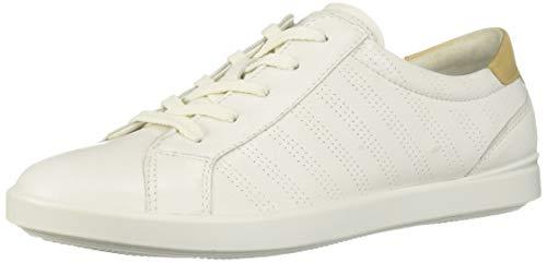 Womens Leather Tie Shoe - ECCO Women's Women's Leisure Sport Tie Sneaker White/Powder 40 M EU (9-9.5 US)