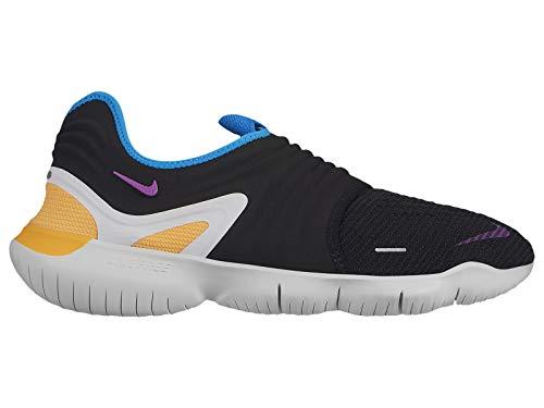981b4b5f175c Nike Men s Free RN Flyknit 3.0 Black Hyper Violet Knit Running Shoes 10.5 M  US