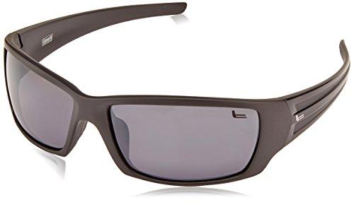 Stripe Black Shiny - Coleman Company Saber Black with Shiny Black Stripes/White Flash Lens Sunglasses
