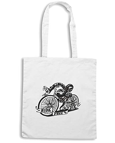 Borsa Shopper SNAKE FUN0154 Bianca BIKE Shirt Speed 54qEfwxpx