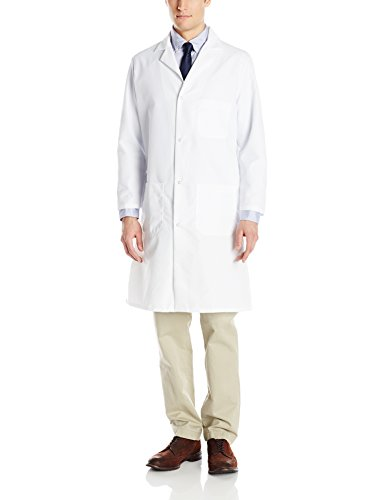 Red Kap Men's Lab Coat, White, Small ()