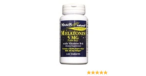Amazon.com: Mason Vitamins Melatonin 5 Mg Capsules, 120 Count: Health & Personal Care