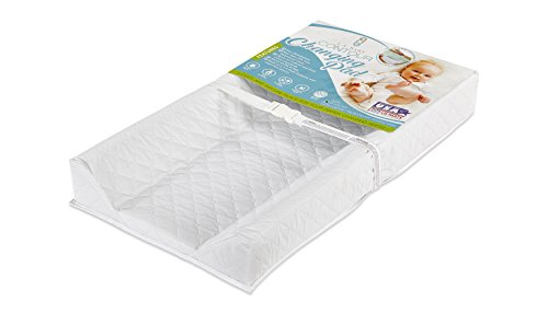 """31c2SegN eL - LA Baby Waterproof Contour Changing Pad, 32"""" - Made In USA. Easy To Clean W/Non-Skid Bottom, Safety Strap, Fits All Standard Changing Tables/Dresser Tops For Best Infant Diaper Change"""