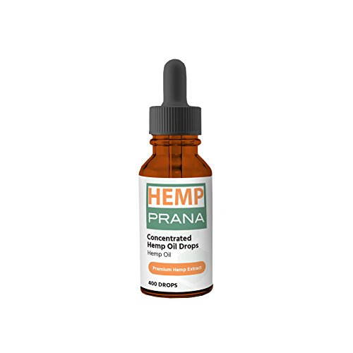PRANA Full Spectrum Hemp Oil Extract Drops, Grapefruit Flavored, 400 milligrams