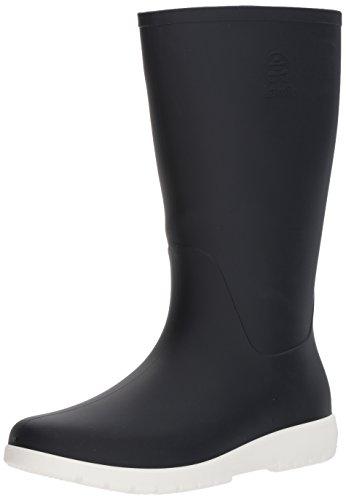 Kamik Womens Jessie Rain Boot, Navy Blue and White, 8 Medium US