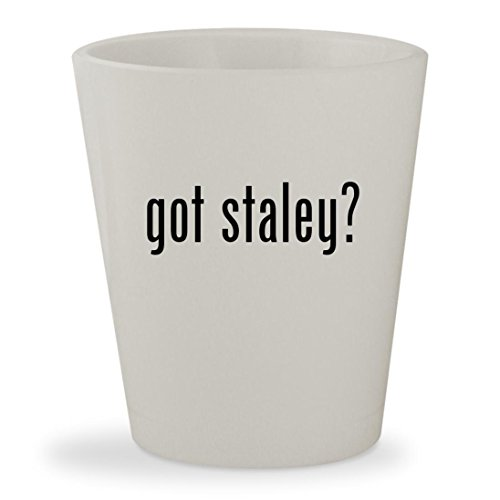 got staley? - White Ceramic 1.5oz Shot (Chicago Bears Staley Costume)