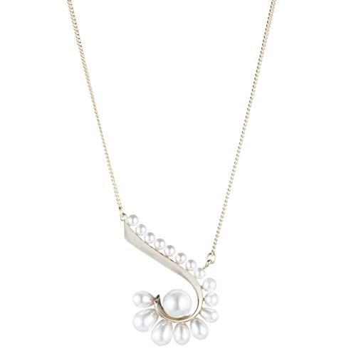 Carolee Women's Necklace 18In Pearl Swirl Pendant ()