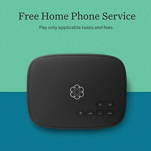 Ooma Telo Free Home Phone Service. Blocks Robocalls with Optional Premier Service, One Size, Black from ooma