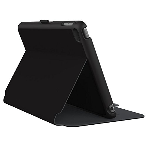 Speck Products StyleFolio Case and Stand for iPad mini 4, Black/Slate Grey (71805-B565)