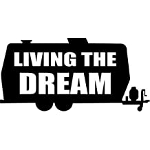 lovelyvv Living The Dream RV Camping Home Decor Car Truck Window Decal Sticker