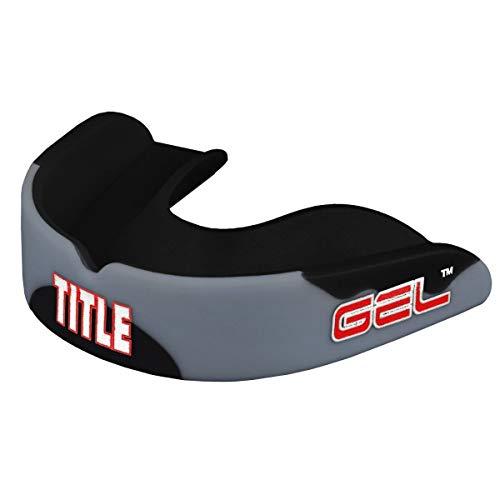 Title Boxing Gel Enforce Mouthguard, Black/Grey