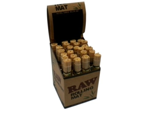 RAW Natural Bamboo Rolling Mat - 4 Pack