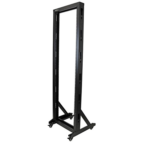 StarTech.com 2-Post Server Rack with Sturdy Steel Construction -