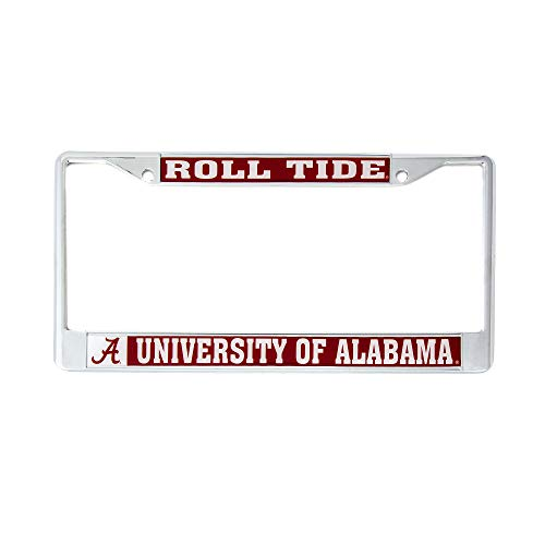 Desert Cactus University of Alabama Roll Tide Metal License Plate Frame for Front Back of Car Officially Licensed Crimson Tide (Mascot)