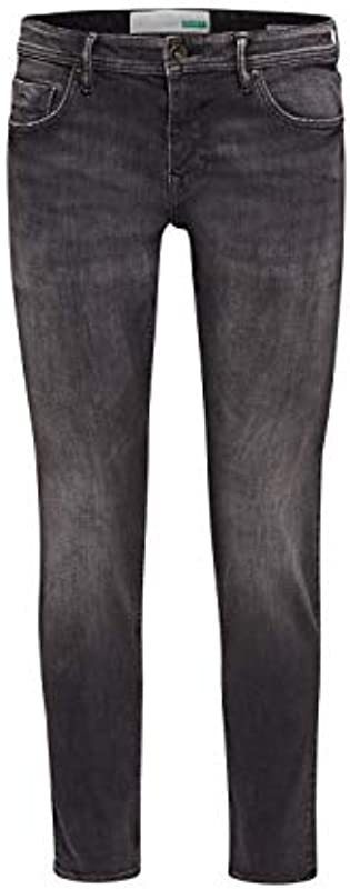 ESPRIT Męskie 109Ee2B016 Slim Jeans, Schwarz (Black Medium Wash 912), W32/L32 (Herstellergröße: 32/32): Odzież