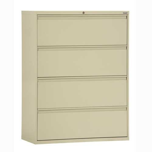 Sandusky Lee LF8F304-07 800 Series 4 Drawer Lateral File Cabinet, 19.25'' Depth x 53.25'' Height x 30'' Width, Putty by Sandusky