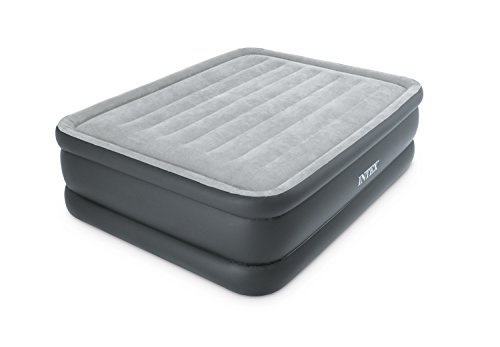Intex Dura-Beam Standard Series Essential Rest Airbed with Built-in Electric Pump, Bed Height 20', Queen