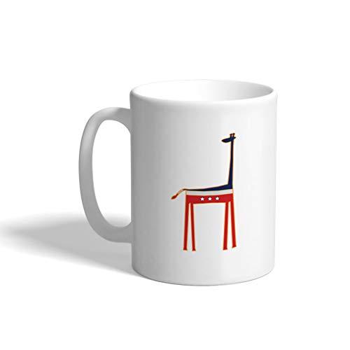 Custom Funny Coffee Mug Coffee Cup United States Giraffe White Ceramic Tea Cup 11 OZ Design Only ()