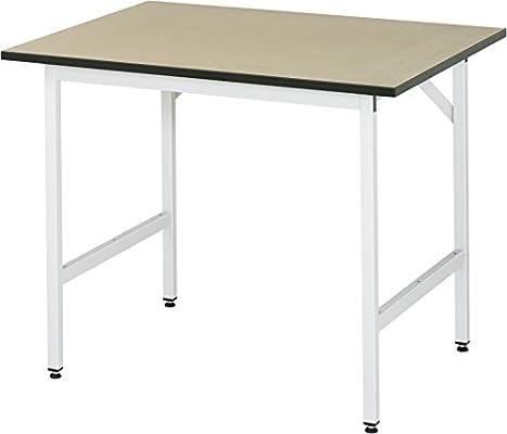 RAU Mesa de trabajo Jerry (mesa básica) A x A x P 1000mm 800-850mm ...