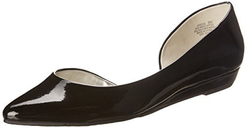 Anne Pointed Flats Black Slide Klein Toe Kezia Womens zTr81Hz