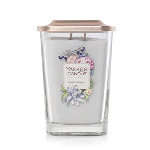 Yankee Candle Company Elevation Collection with Platform Lid, Large 2-Wick Square Candle | Passionflower (Yankee Candle Plumeria)