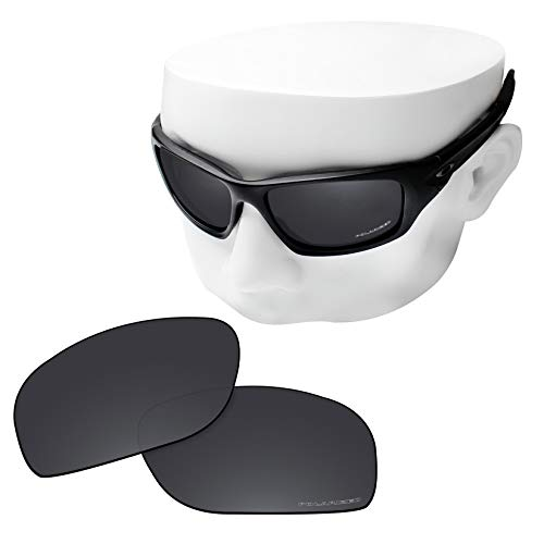 OOWLIT Replacement Lenses Compatible with Oakley Valve New 2014 Sunglass Black Combine8 Polarized
