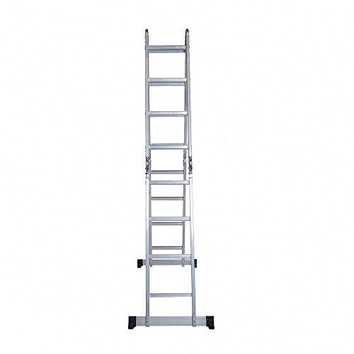 Idealchoiceproduct 15.5' Heavy Duty Gaint Aluminum Multi Purpose Folding Ladder Scaffold Ladders with 2 Platform Plates- 330Lbs by Idealchoiceproduct (Image #5)