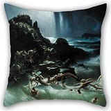 Artistdecor Pillowcase Of Oil Painting Francis Danby - The Deluge 16 X 16 Inches / 40 By 40 Cm,best Fit For Boy Friend,living Room,bedding,chair,home,club Twin Sides