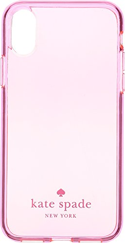 Kate Spade New York Women's Flexible Tinted Phone Case for iPhone X Hot Pink One (Tinted Pink Case)