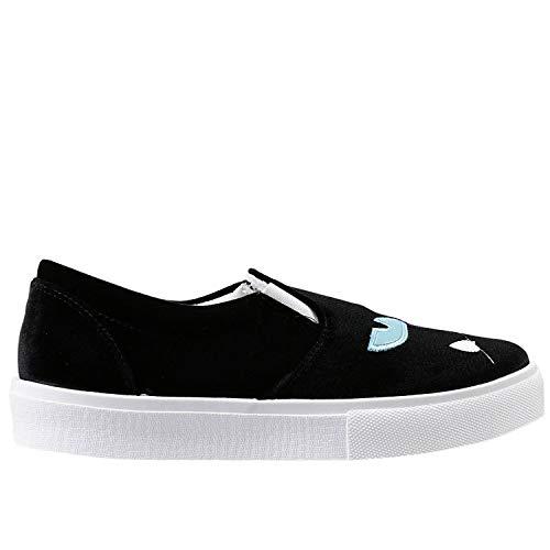Chiara On Donna Nero Velluto Slip Ferragni Sneakers Cf690 rAqZxrwS