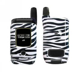 (Fits Nextel Motorola i570 Cell Phone Snap on Protector Faceplate Cover Housing Case - Zebra Skin)