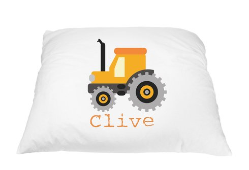 Price comparison product image Personalized Kid's Tractor Pillowcase Cover Microfiber Polyester 20 by 30 Inches, Tractor Bedding, Tractor Pillow, Tractor Decorations, Personalized Gifts for Kids, Tractor Toy, Tractor Accessories