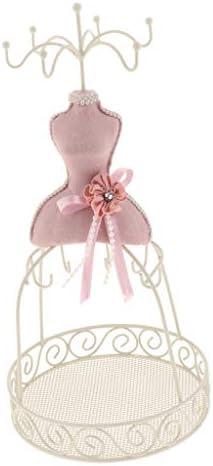 non-brand Schmuckhalter Kettenhalter Schmuckständer Kettenständer Ohrringhalter Schöne Geschenke für Frauen, Mädchen und Kinder - Rosa Stil 1