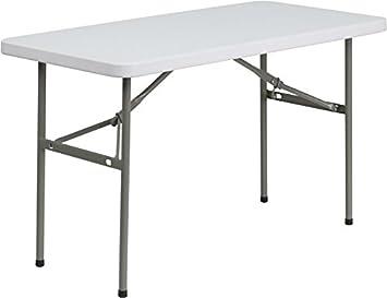 Awesome Flash Furniture 24u0027u0027W X 48u0027u0027L Granite White Plastic Folding Table