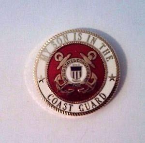 Quality Handcrafts - My Son is in The Coast Guard Hat Pin - Accessories for Clothes Decoration ()