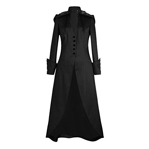 - Women's Coat KpopBaby Long Sleeve Printed Trim Button Up Cape Irregular Tailcoat Outwear2019 New Arrive Casual Jacket