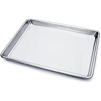 New Star Foodservice 36831 Commercial 18-Gauge Aluminum Sheet Pan, 9 x 13 x 1 inch (Quarter Size)