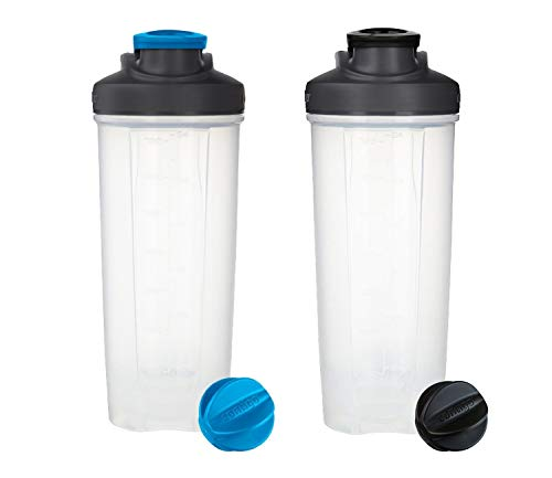 Contigo Shake & Go Fit Mixer Bottles, Blue & Black 28oz