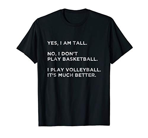 - Funny Volleyball Shirt Teen Girls Gift Yes I Am Tall