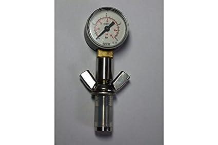 """'Bouteille avec manomètre """"Universal pour bouteilles 0,5 L – Contrôle de la pression pendant la bouteille fermentation et stockage"""