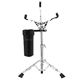 """Donner Snare Drum Stand, Adjustable Snare Stand Double Braced with Drumstick Holder Fit for 10""""-14"""" Dia Drums, Height…"""