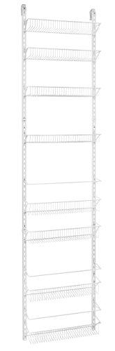 ClosetMaid 1233 Adjustable 8-Tier Wall and Door Rack, 77-Inch Height X 18-Inch Wide (Renewed)