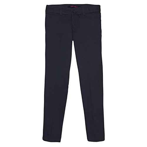 - French Toast Big Girls Stretch Twill Straight Leg Pant, Navy, 16