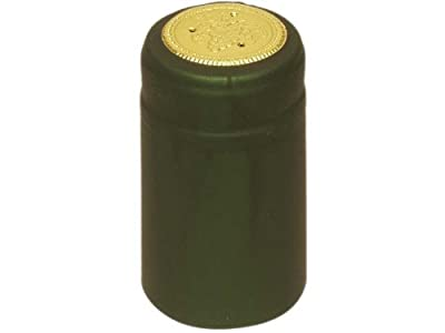 1 X Metallic Green PVC Shrink Capsules