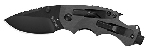 Kershaw Shuffle DIY Compact Multifunction Pocket Knife (8720), 2.4 Inch 8Cr13MoV Steel Blade with Black Oxide Coating, Every Day Utility Knife with Carbon Strength and High Tech Function, 3.5 oz.